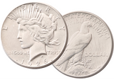 1926 Peace GOD Dollar - 3 coins