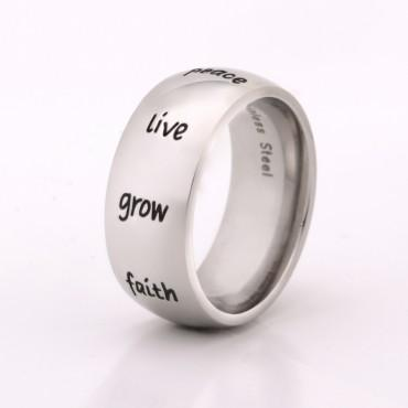 Inspirational Humanities Ring for Men and Women
