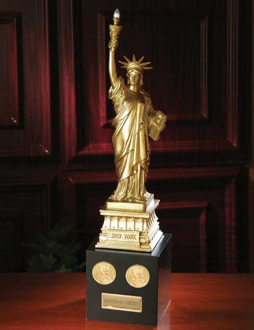 Statue of Liberty with Presidential Golden Dollar