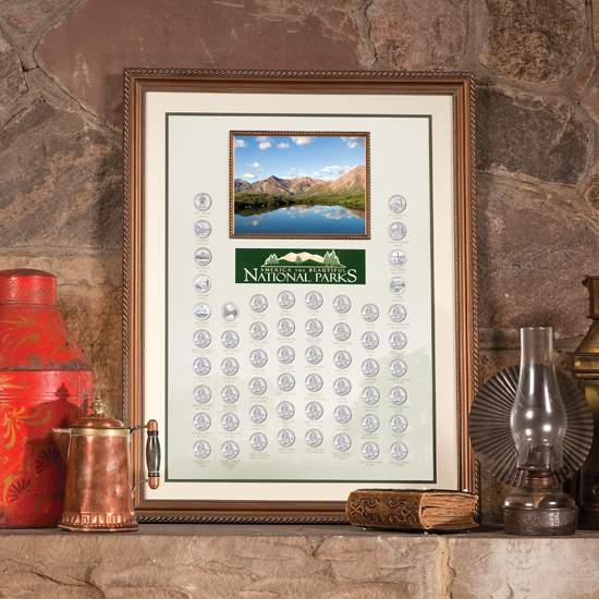 America the Beautiful State Quarter Dollar Framed Collection
