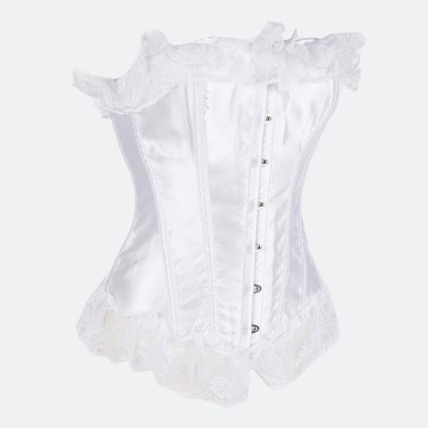 f61f9260fcd Cheap Classic Curves Lace Trim Strapless Overbust Corset