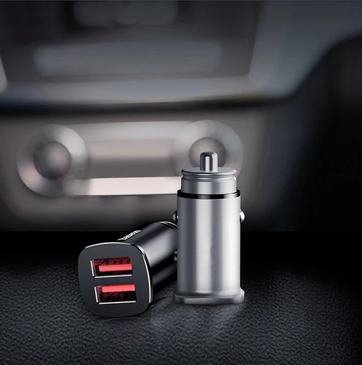 Mini Portable 3.1A Dual USB Smart Mobile Phone Car Charger