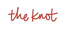 Logo for The Knot wedding website for brides.
