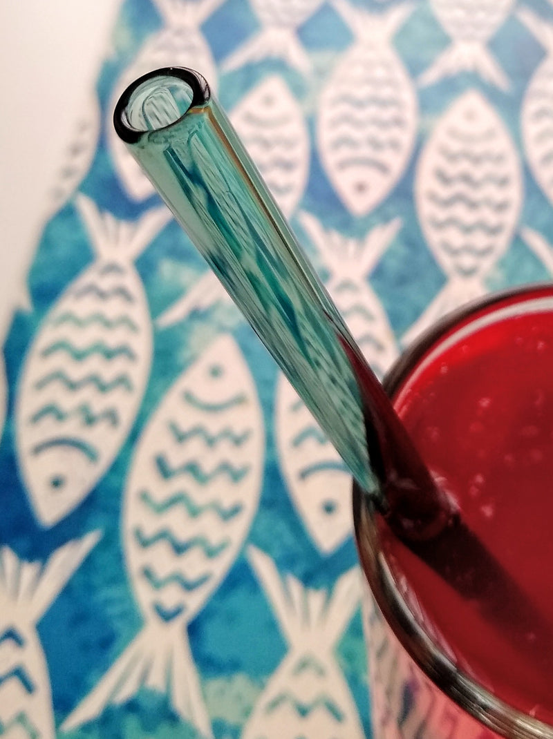 Party Pack - 25 glass straws in 4 colors and 2 lengths