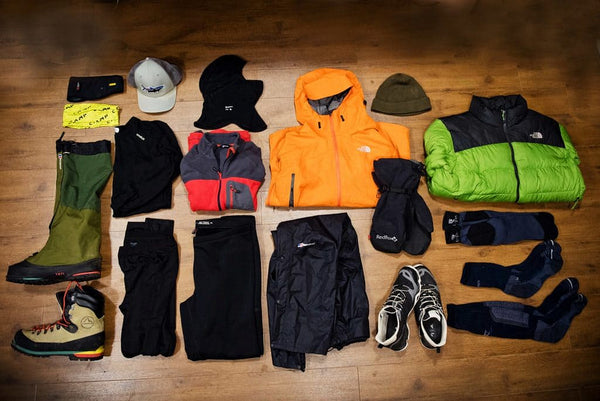 Clothes for mountain hiking in winter