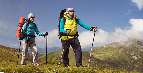 Clothes for hiking intended for men
