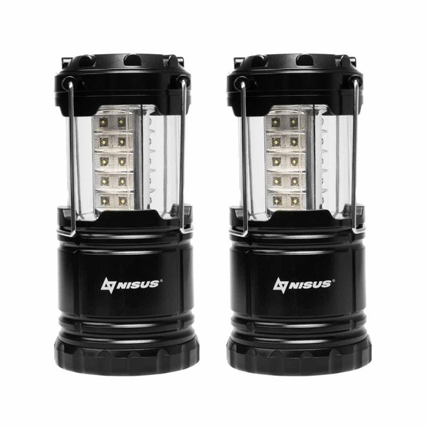 Pack of 2 360-Degree Bright Collapsible Camping Lanterns, IPX4 Waterproof