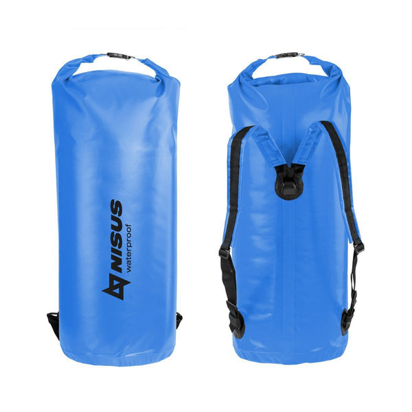 70L Waterproof Large Boating Dry Bag, Waterproof Fishing Dry Bag Backpack with Shoulder Straps,  Blue/ Yellow