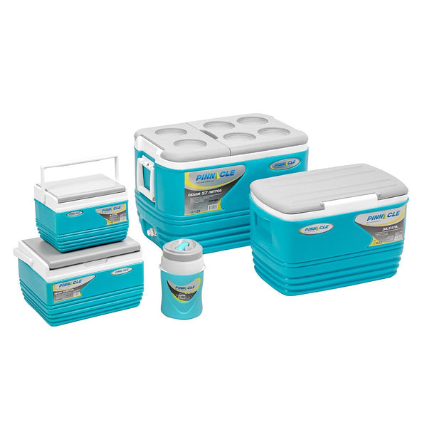Eskimo Set of Blue Ice Chests, Coolers for Camping (5 pcs in set)