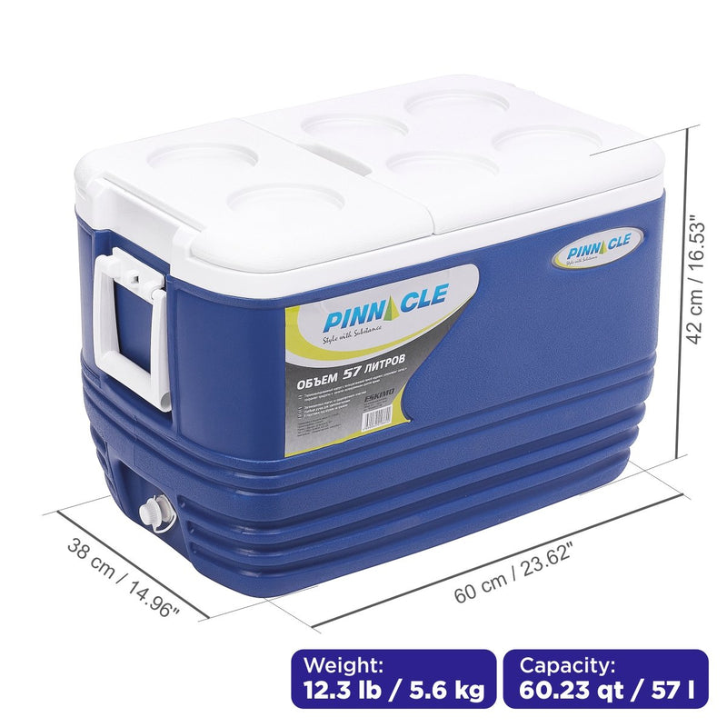 Eskimo Large Dark Blue Cooler for Camping, Outdoor, 60 qt