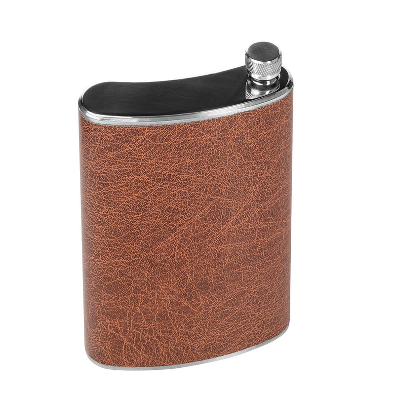 Stainless Steel Hip Alcohol Flask in Case 24 oz