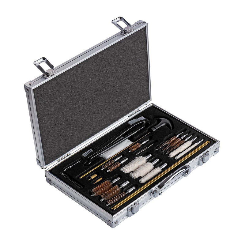 Universal Gun Cleaning Kit, 24 Items, Aluminum Case