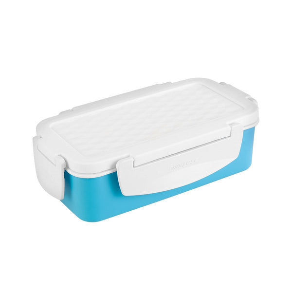 Petra 27 oz Plastic Rectangular Lunch Container, Food Storage Box, Blue