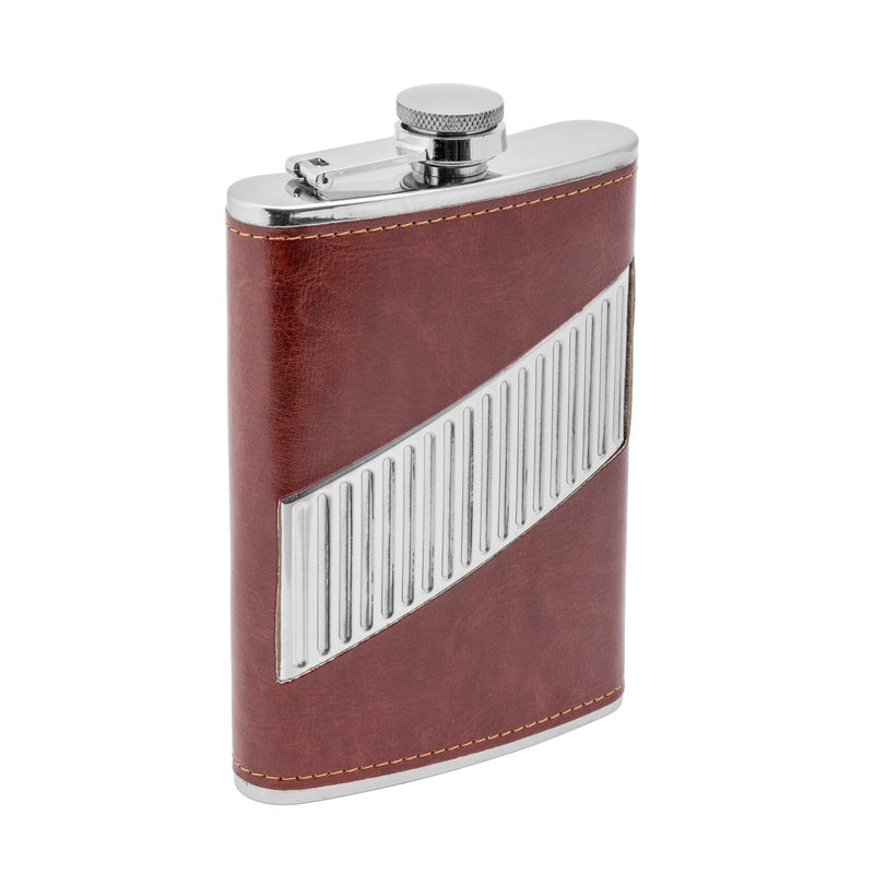 9 oz Maroon Stainless Steel Hip Flask for Alcohol