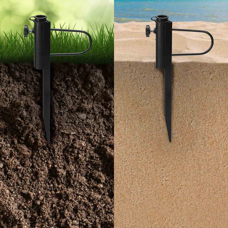 Beach Umbrella Sand Anchor, Heavy-Duty Rust-Resistant Steel Umbrella Stand Holder