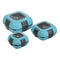 Paloma Set of 3 Plastic Lunch Containers with Stainless Steel Insulation, Blue