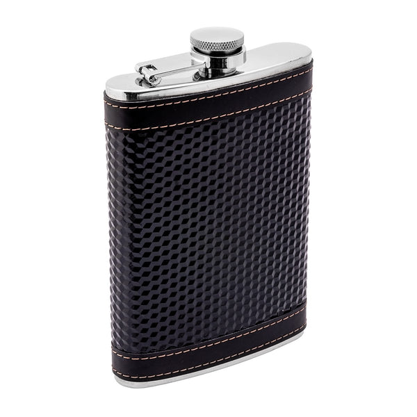 9 oz Stainless Steel Liquor Hip Flask, Black