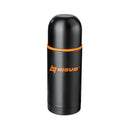 Double Wall 16 oz Stainless Steel Vacuum Bottle with Two Cups, Black