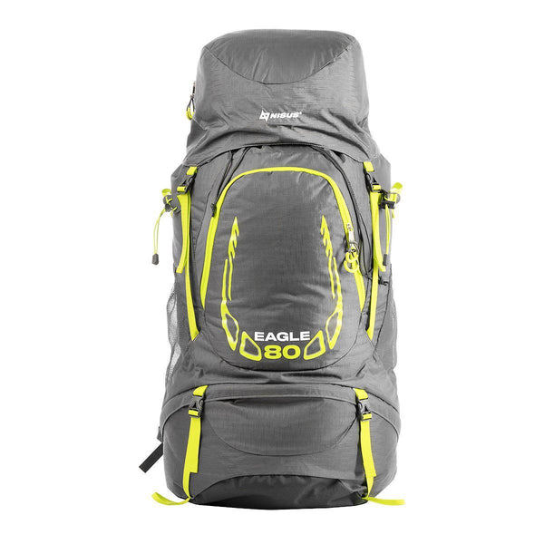 80L EAGLE Backpacking Multi-Day Waterproof Framed Hiking Backpack with Rain Cover