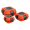 Paloma Set of 3 Plastic Lunch Containers, Food Storage Boxes, Orange