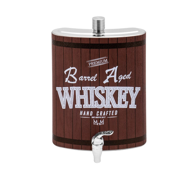 128 oz Large Stainless Steel Liquor Hip Flask with Spigot