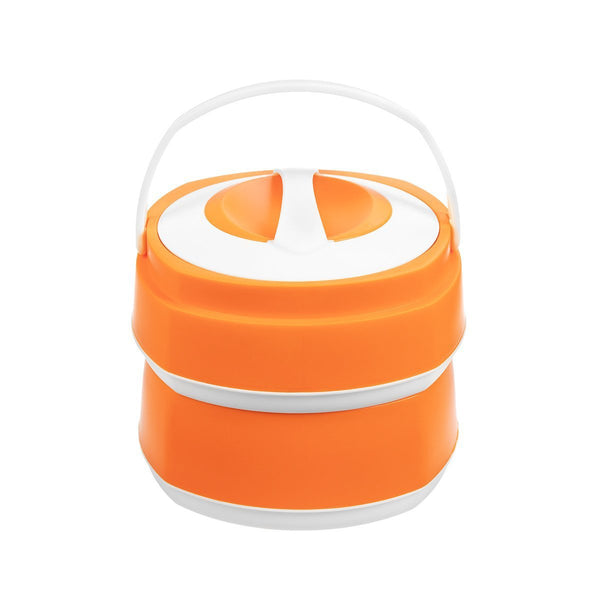 Phoenix 2 Stackable Plastic Lunch Boxes, 61 oz Food Containers with Stainless Steel Insulation, Orange