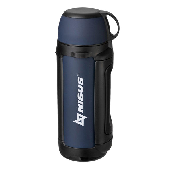 Big 64 oz Stainless Steel Vacuum Bottle, Insulated Travel Water Bottle, Soft-Touch, Blue