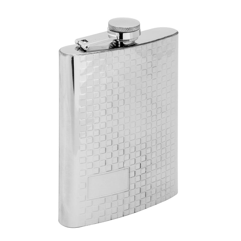 8 oz Silver Stainless Steel Hip Flask for for Alcohol