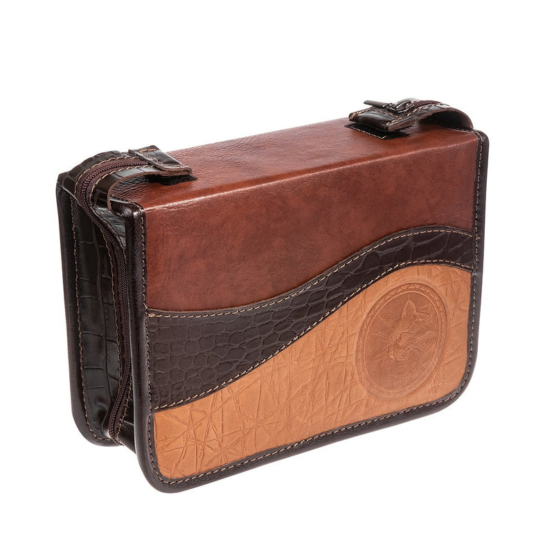 Journey 3 Gift Set For Hunters, Anglers, Travelers, Campers and Outdoor Lovers, Genuine Leather Case