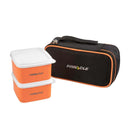 Polaris Set of 2 Plastic Lunch Boxes, 8.5 oz Food Storage Containers, Orange