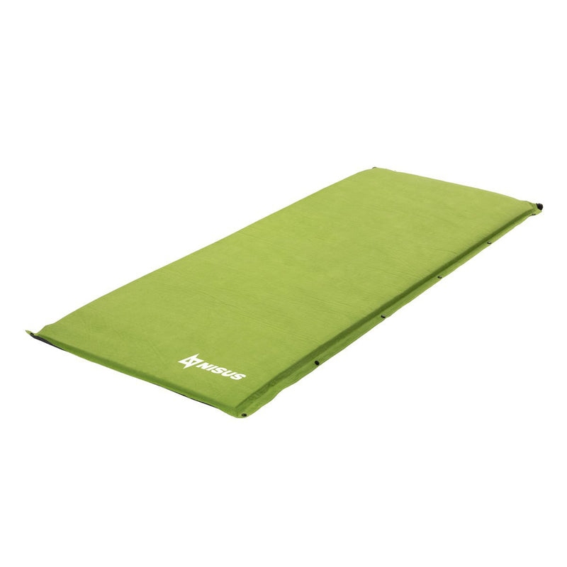 Self-Inflating Foam Pad for Summer Camping, Hiking, Backpacking, Outdoor Sleeping Pad, Green