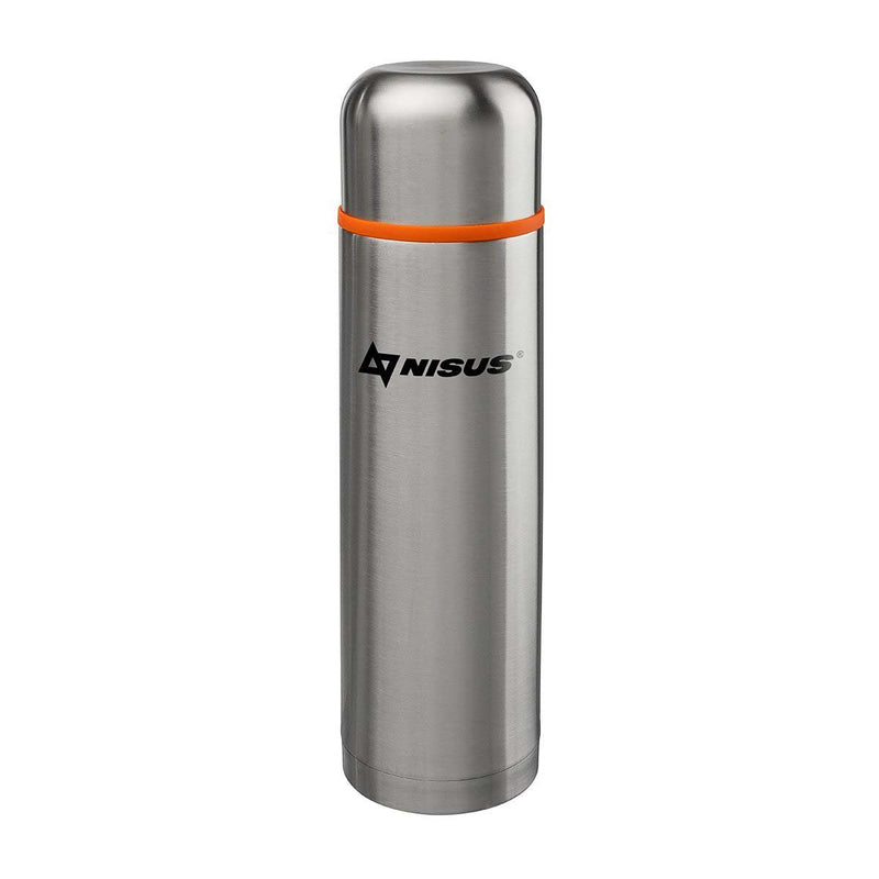 33 oz Double Wall Stainless Steel Vacuum Bottle with Lid Cup, Silver Metal