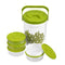 Picnic Treat Set of 6 Plastic Lunch Containers, Microwave Safe Food Storage Boxes