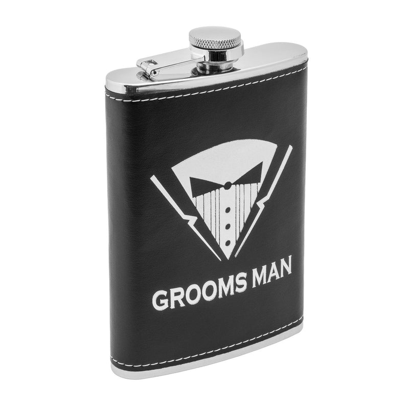 9 oz Groomsman Stainless Steel Gift Hip Flask