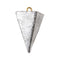 1.5 oz Pyramid Sinker, Lead Sinker for Fishing, Freshwater and Saltwater Fishing Weight (5 pcs)