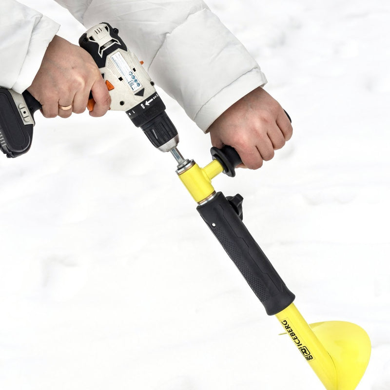 "Ice Auger Drill Adapter with Handle 22mm/0.87"" for Iceberg"