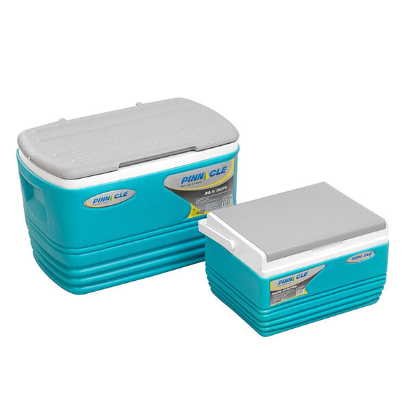 Eskimo Set of Ice Chests (2 pcs set), Portable Blue Coolers for Camping