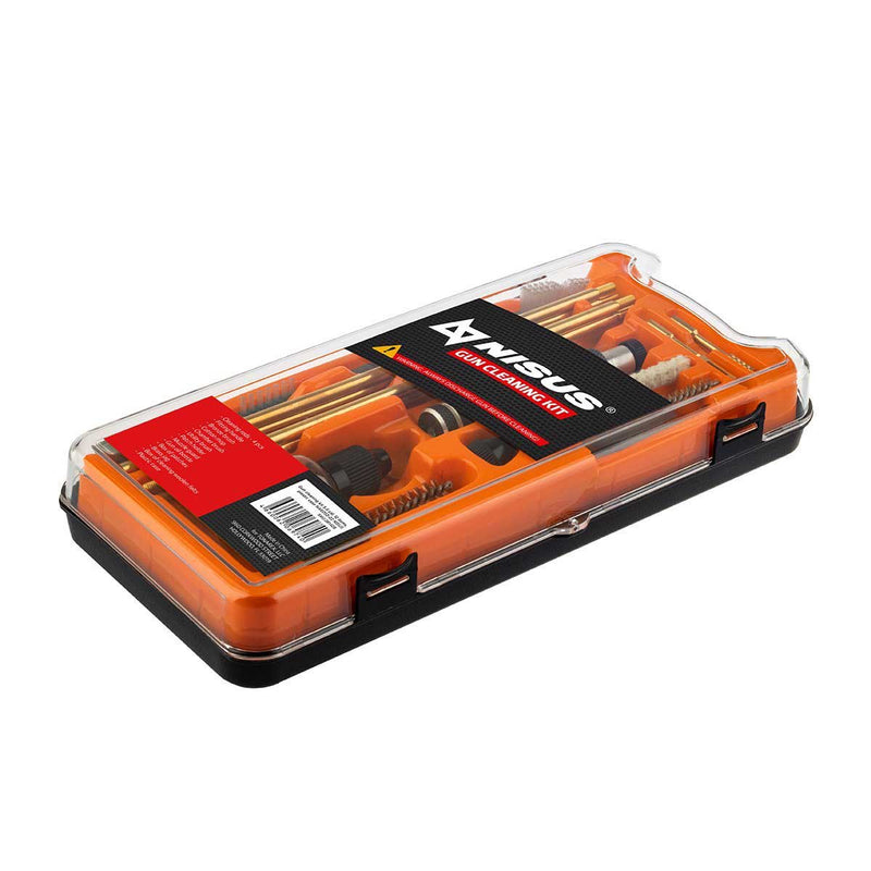 Cleaning Kit for Hunting Accessories in Plastic Case, .22 Caliber,12 Items