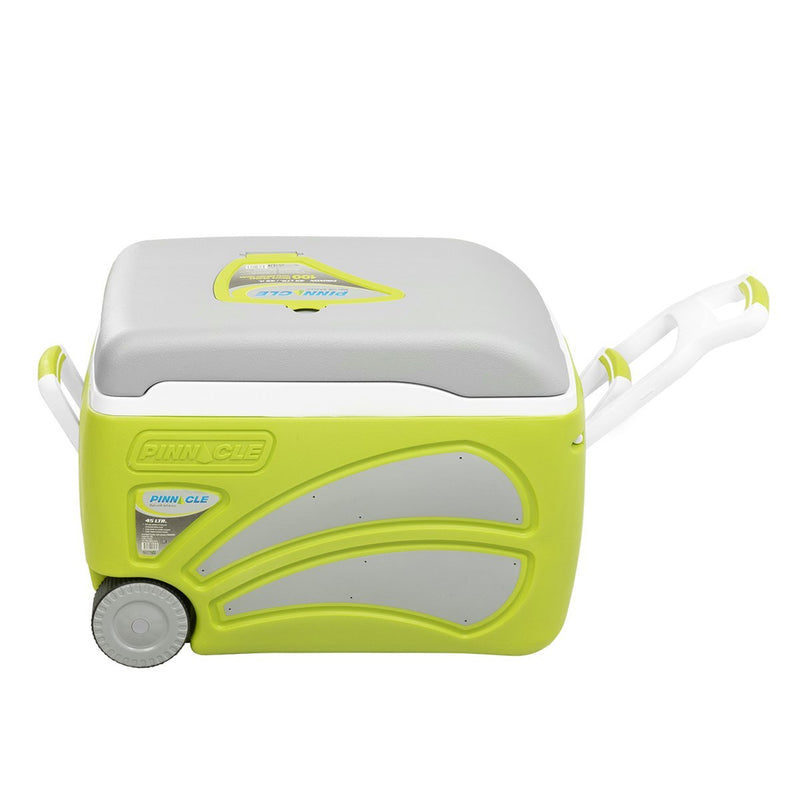 Proxon Large Hard-Sided Camping Cooler on Wheels, 47 qt, Green