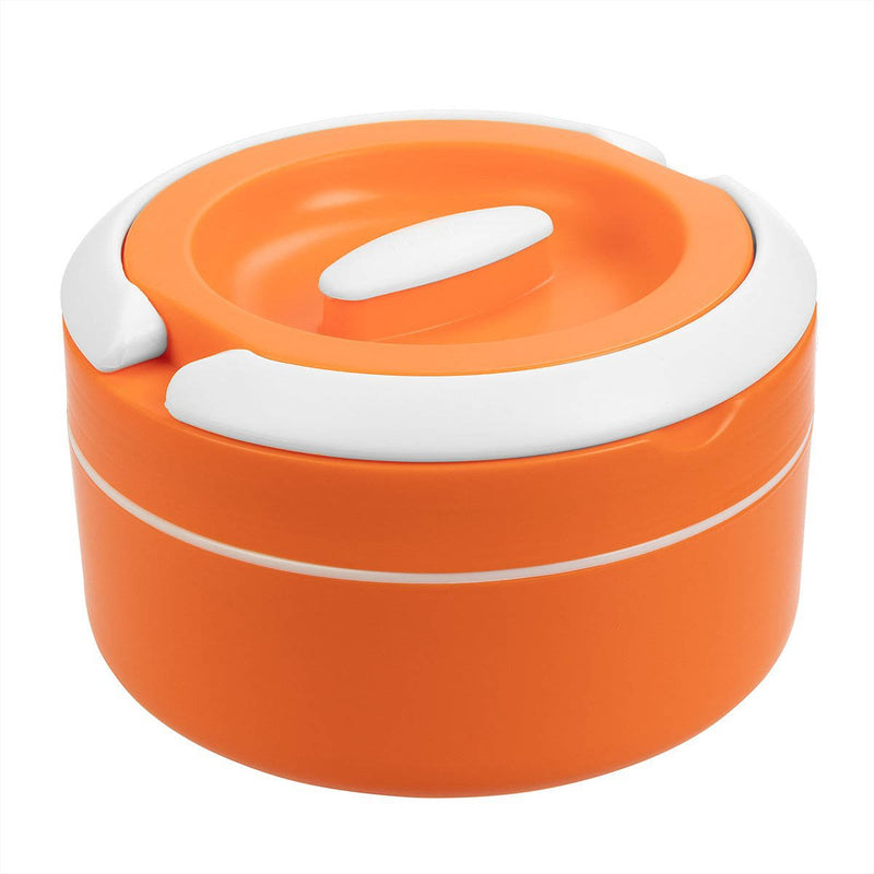 Prime 61 oz Plastic Lunch Box with Stainless Steel Insulation, Orange