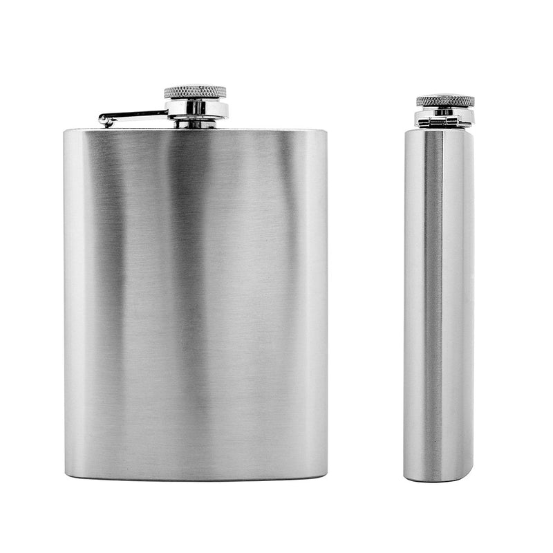 7 oz Silver Stainless Steel Hip Flask for Liquor