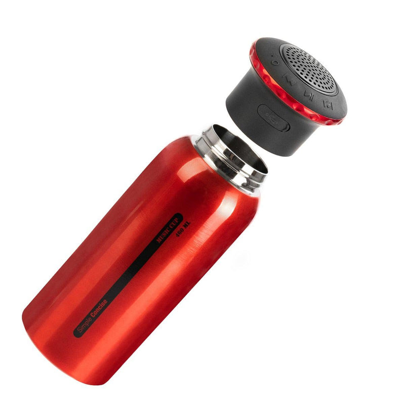 15 oz Bluetooth Speaker Double Wall Stainless Steel Travel Water Vacuum Bottle