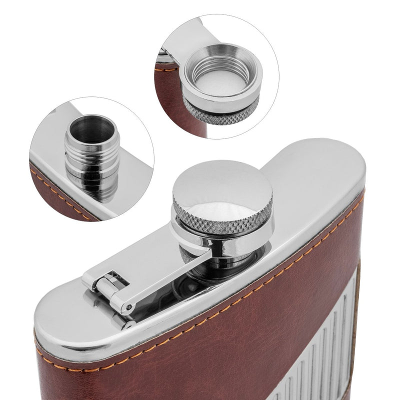 9 oz Maroon Stainless Steel Hip Flask for Liquor