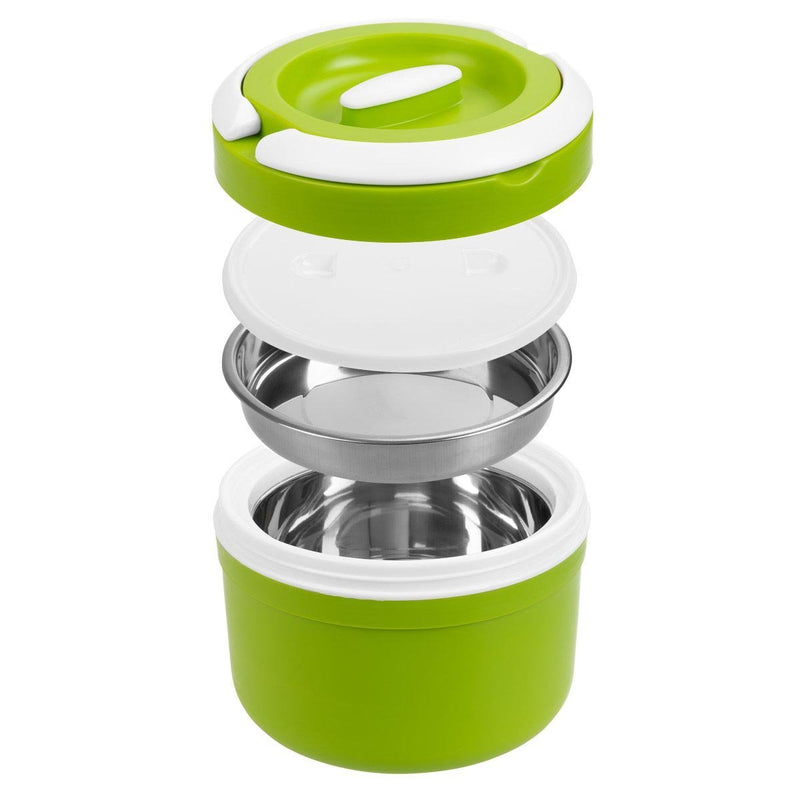 Prime, 84.5 oz Plastic Lunch Container with Stainless Steel Insulation, Green