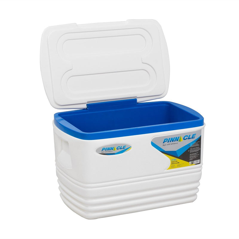 Voyager Big White Hard-Sided Outdoor Camping Ice Chest, 36 qt
