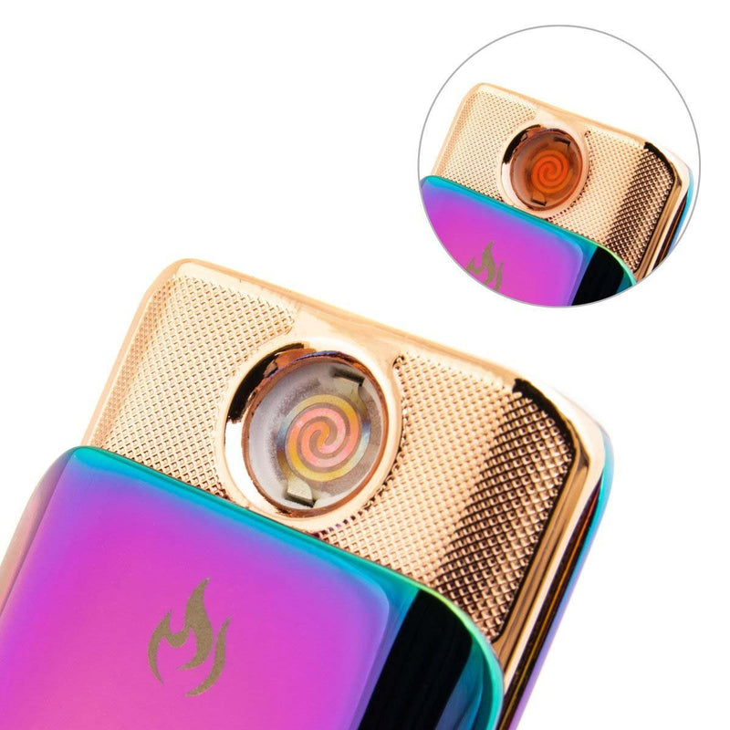 USB Rechargeable Wind-Resistant Touch Ignition Electric Lighter