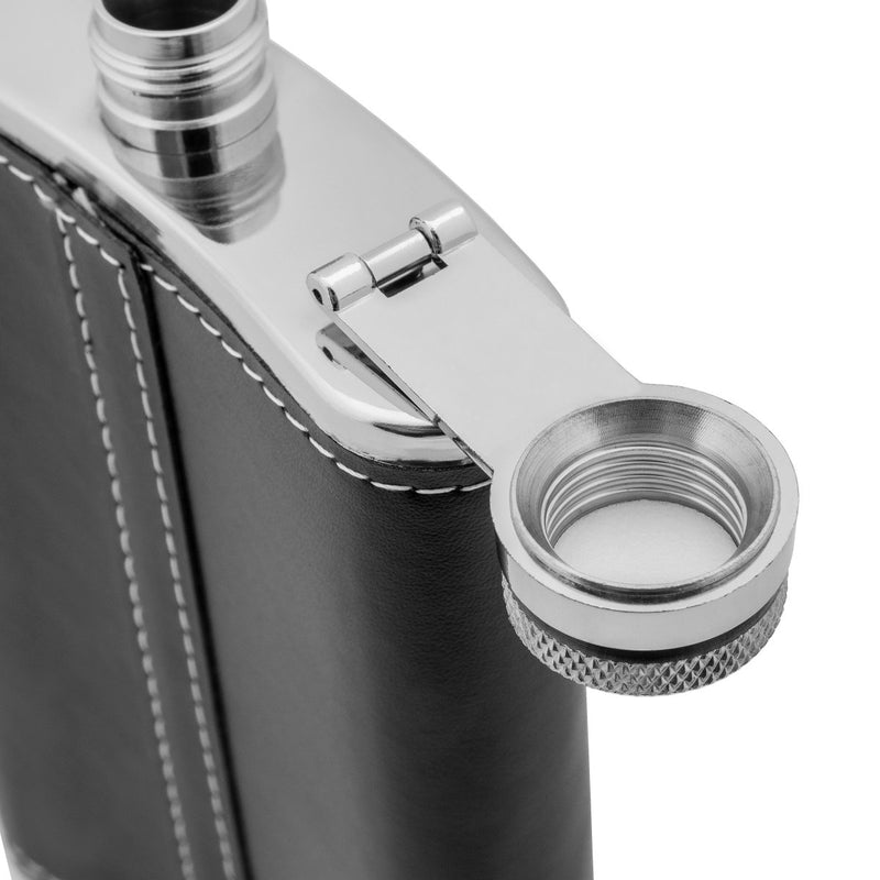 Best Man Stainless Steel 9 oz Gift Flask for Strong Alcohol