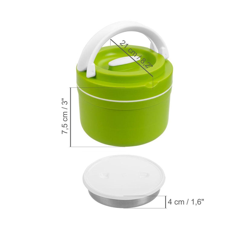 Prime, 2.5 L plastic lunch container with stainless steel insulation