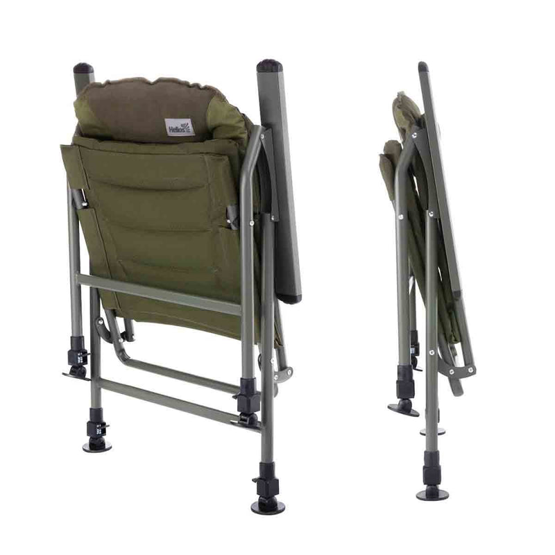 Lightweight Green Aluminum Carp Fishing Armchair