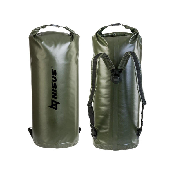 70L Waterproof Large Boating Dry Bag, Green Waterproof Fishing Dry Bag Backpack with Shoulder Straps